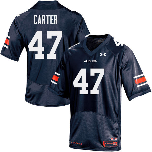 Men Auburn Tigers #47 Craig Carter College Football Jerseys Sale-Navy