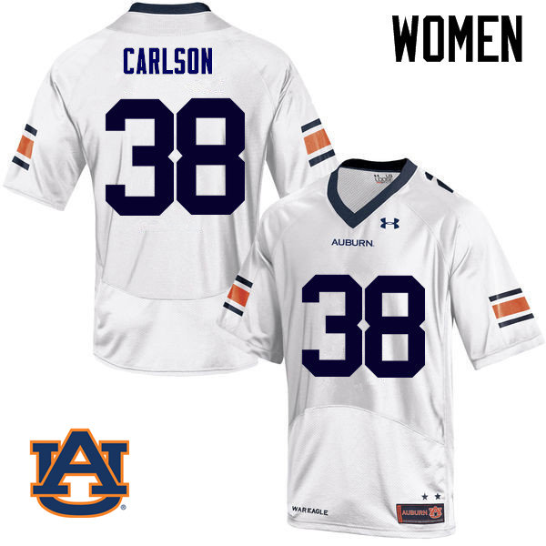 Women Auburn Tigers #38 Daniel Carlson College Football Jerseys Sale-White