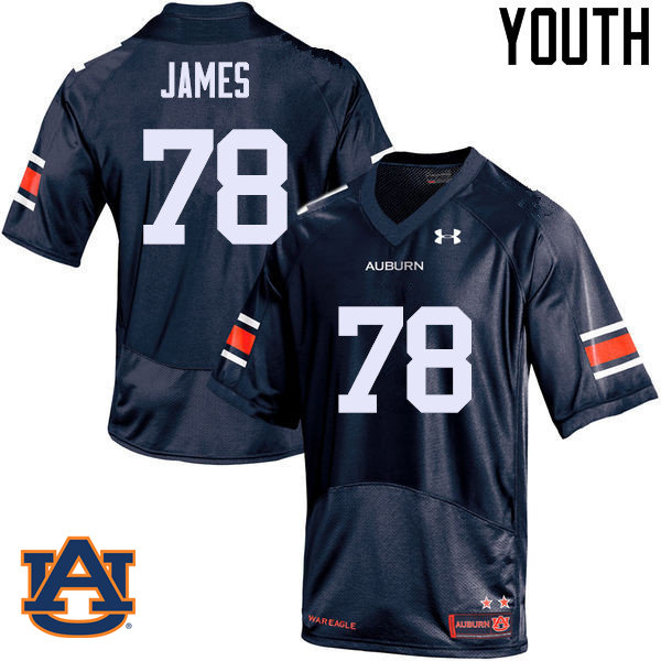 Youth Auburn Tigers #78 Darius James College Football Jerseys Sale-Navy