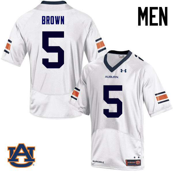 Men Auburn Tigers #5 Derrick Brown College Football Jerseys Sale-White