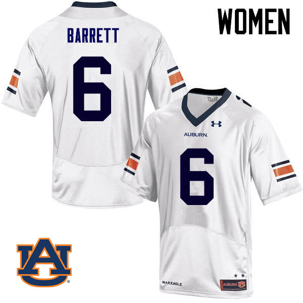 Women Auburn Tigers #6 Devan Barrett College Football Jerseys Sale-White