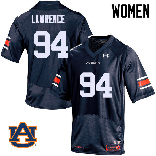 Women Auburn Tigers #94 Devaroe Lawrence College Football Jerseys Sale-Navy