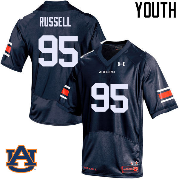 Youth Auburn Tigers #95 Dontavius Russell College Football Jerseys Sale-Navy