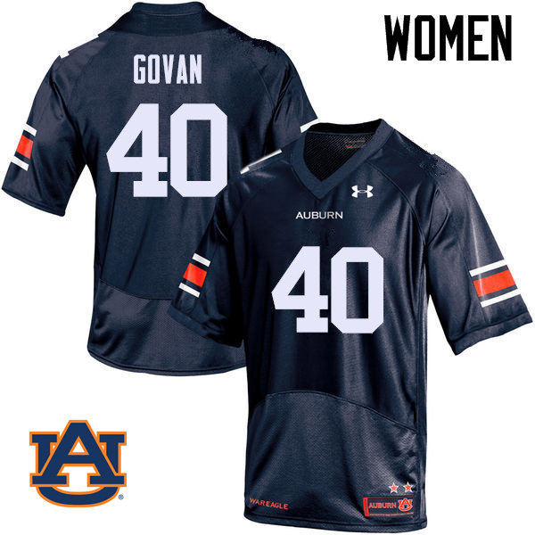 Women Auburn Tigers #40 Eugene Govan College Football Jerseys Sale-Navy