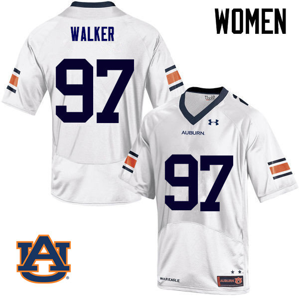 Women Auburn Tigers #97 Gary Walker College Football Jerseys Sale-White