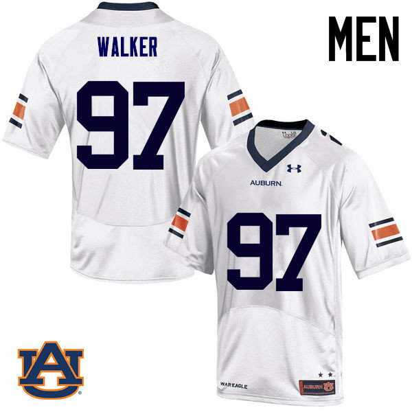 Men Auburn Tigers #97 Gary Walker College Football Jerseys Sale-White