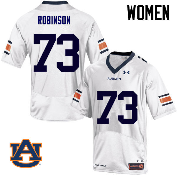 Women Auburn Tigers #73 Greg Robinson College Football Jerseys Sale-White