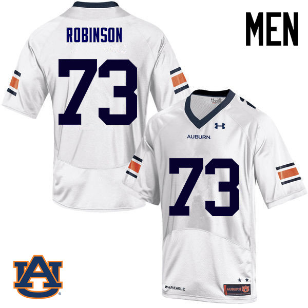 Men Auburn Tigers #73 Greg Robinson College Football Jerseys Sale-White
