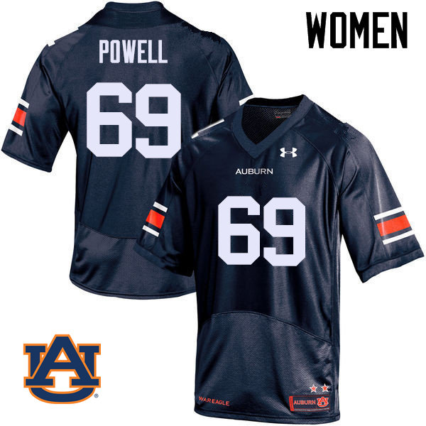 Women Auburn Tigers #69 Ike Powell College Football Jerseys Sale-Navy