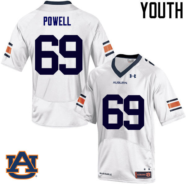 Youth Auburn Tigers #69 Ike Powell College Football Jerseys Sale-White