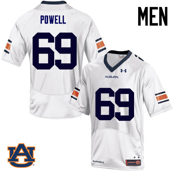 Men Auburn Tigers #69 Ike Powell College Football Jerseys Sale-White