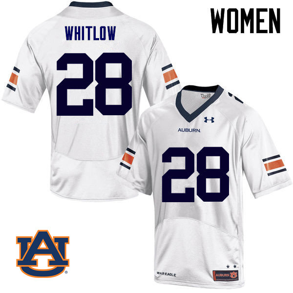 Women Auburn Tigers #28 JaTarvious Whitlow College Football Jerseys Sale-White