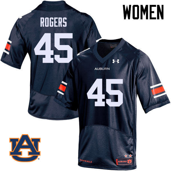 Women Auburn Tigers #45 Jacob Rogers College Football Jerseys Sale-Navy