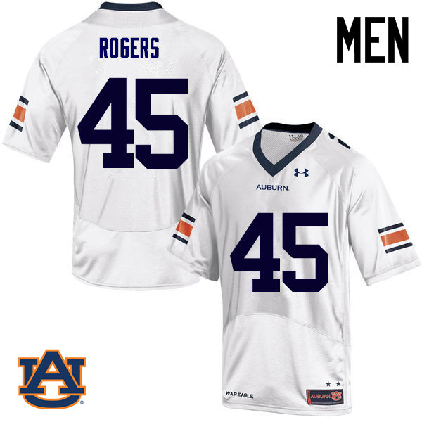 Men Auburn Tigers #45 Jacob Rogers College Football Jerseys Sale-White