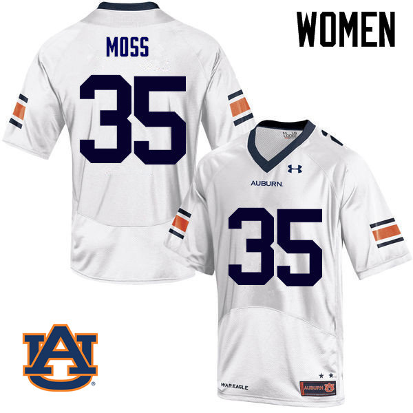 Women Auburn Tigers #35 James Owens Moss College Football Jerseys Sale-White