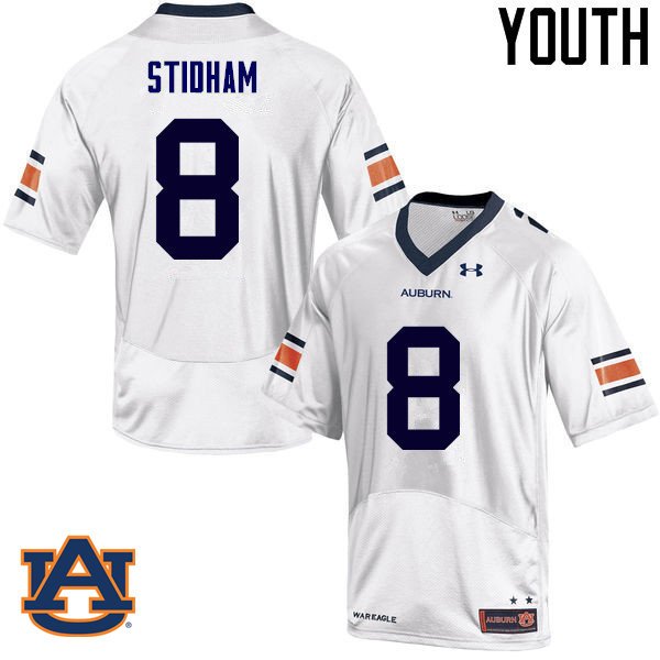 Youth Auburn Tigers #8 Jarrett Stidham College Football Jerseys Sale-White