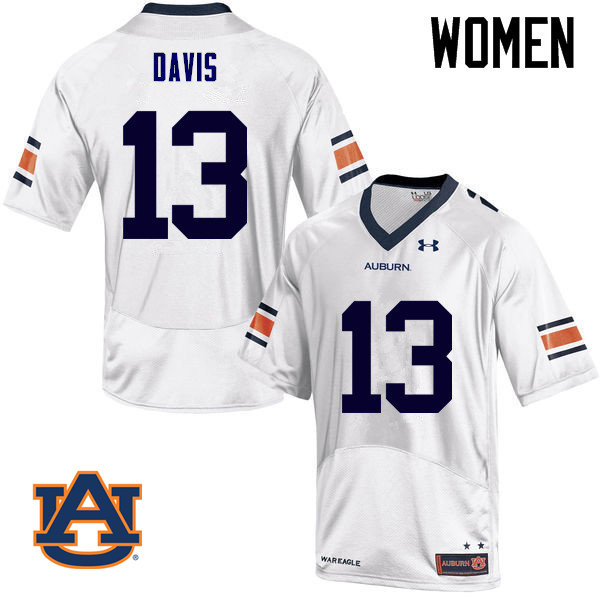 Women Auburn Tigers #13 Javaris Davis College Football Jerseys Sale-White