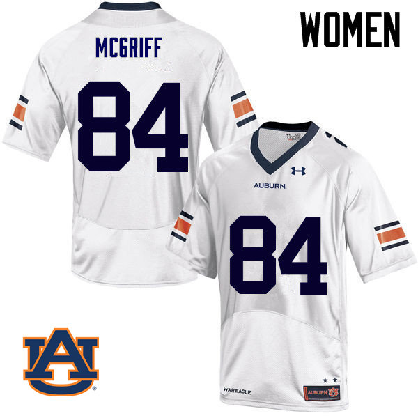 Women Auburn Tigers #84 Jaylen McGriff College Football Jerseys Sale-White