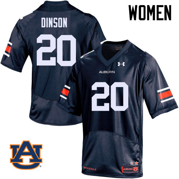 Women Auburn Tigers #20 Jeremiah Dinson College Football Jerseys Sale-Navy