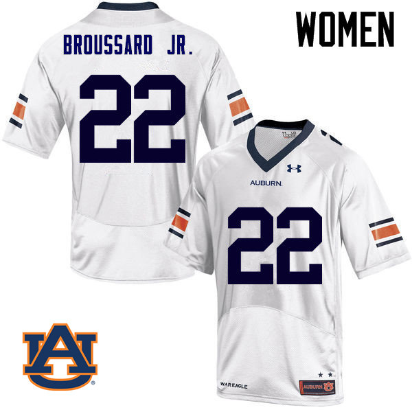 Women Auburn Tigers #22 John Broussard Jr. College Football Jerseys Sale-White
