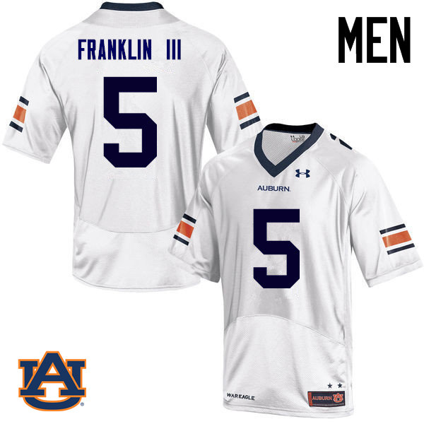 Men Auburn Tigers #5 John Franklin III College Football Jerseys Sale-White