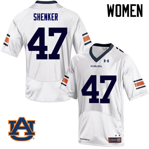 Women Auburn Tigers #47 John Samuel Shenker College Football Jerseys Sale-White