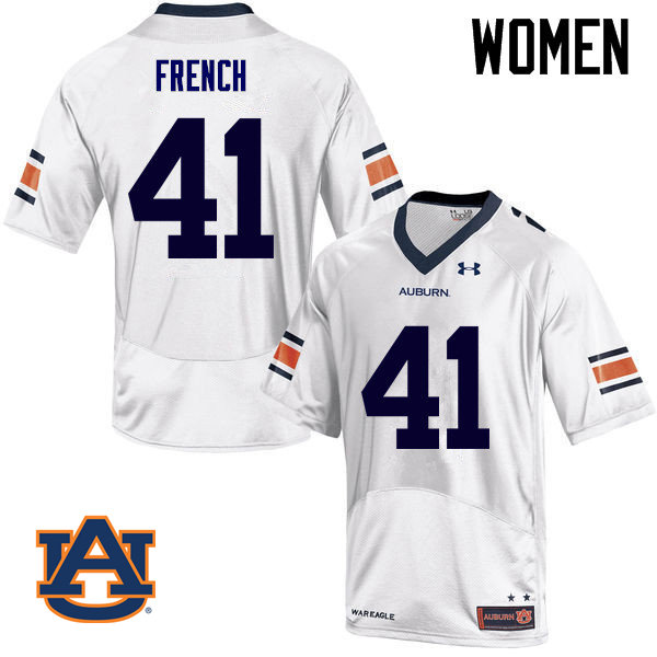 Women Auburn Tigers #41 Josh French College Football Jerseys Sale-White