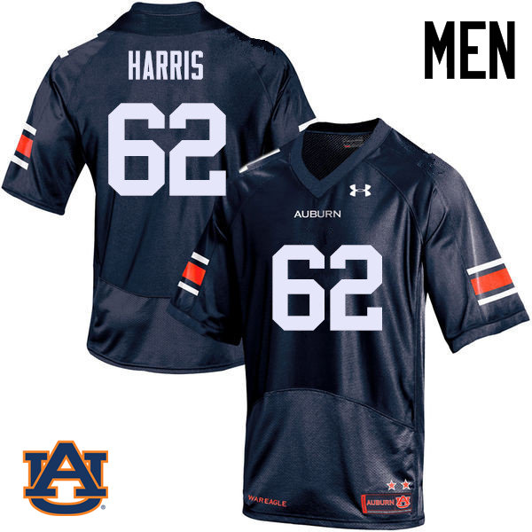 Men Auburn Tigers #62 Josh Harris College Football Jerseys Sale-Navy