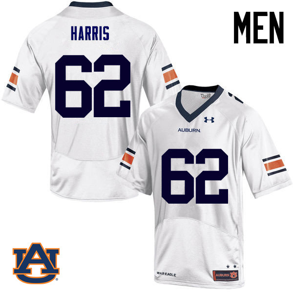 Men Auburn Tigers #62 Josh Harris College Football Jerseys Sale-White
