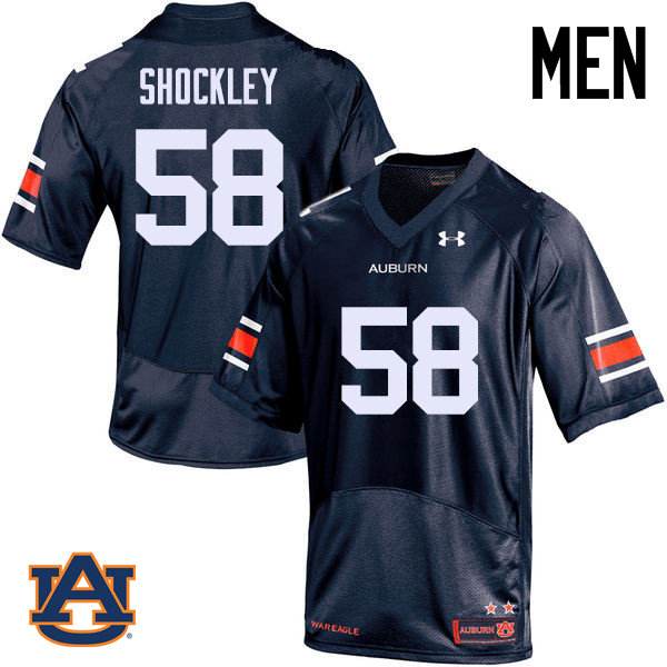 Men Auburn Tigers #58 Josh Shockley College Football Jerseys Sale-Navy