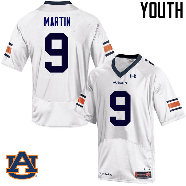 Youth Auburn Tigers #9 Kam Martin College Football Jerseys Sale-White