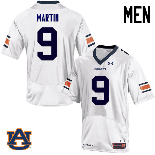Men Auburn Tigers #9 Kam Martin College Football Jerseys Sale-White