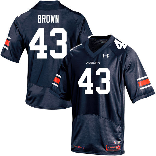 Men #43 Kameron Brown Auburn Tigers College Football Jerseys Sale-Navy