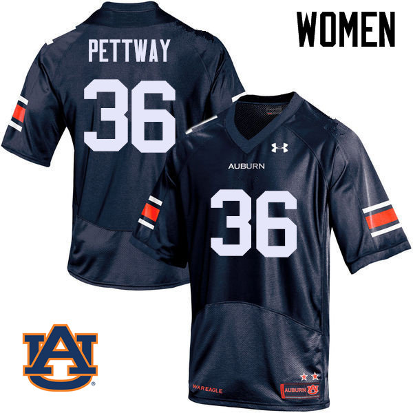 Women Auburn Tigers #36 Kamryn Pettway College Football Jerseys Sale-Navy