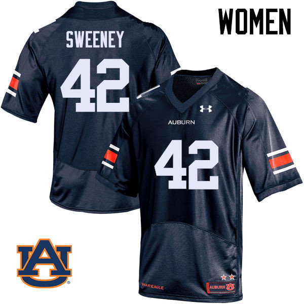 Women Auburn Tigers #42 Keenan Sweeney College Football Jerseys Sale-Navy