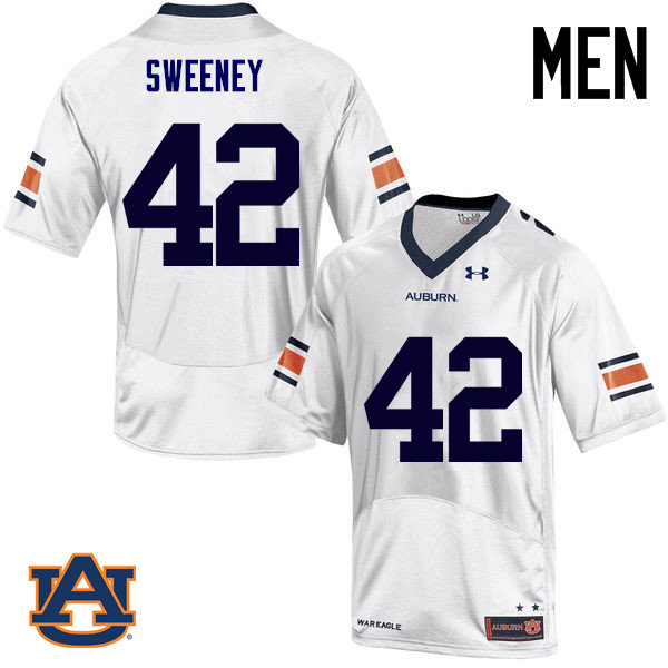 Men Auburn Tigers #42 Keenan Sweeney College Football Jerseys Sale-White