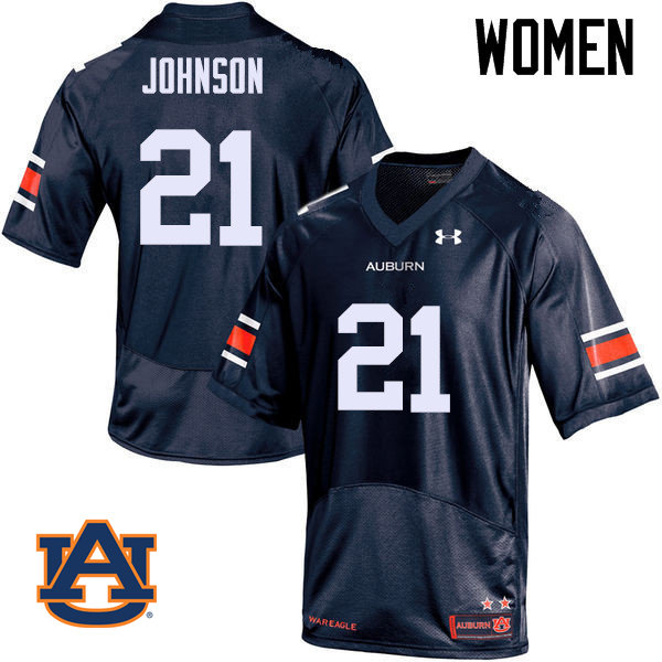 Women Auburn Tigers #21 Kerryon Johnson College Football Jerseys Sale-Navy