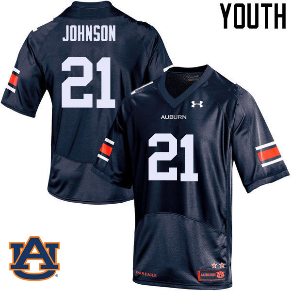 Youth Auburn Tigers #21 Kerryon Johnson College Football Jerseys Sale-Navy