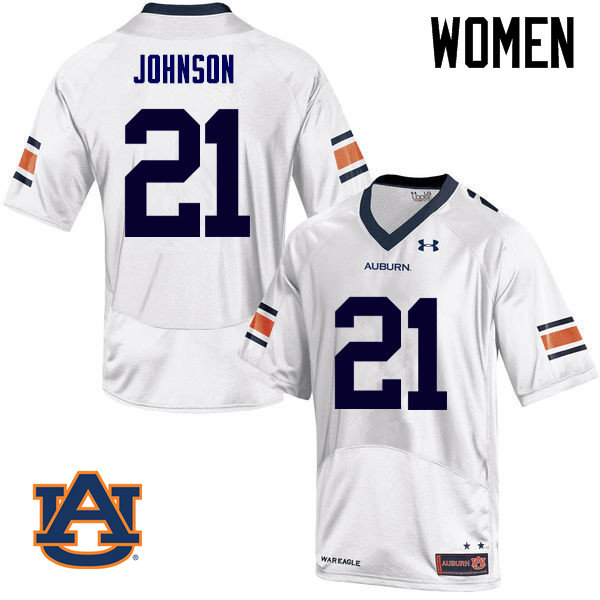 Women Auburn Tigers #21 Kerryon Johnson College Football Jerseys Sale-White