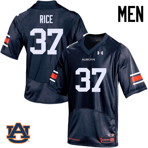 Men Auburn Tigers #37 Logan Rice College Football Jerseys Sale-Navy