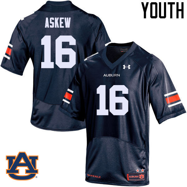 Youth Auburn Tigers #16 Malcolm Askew College Football Jerseys Sale-Navy
