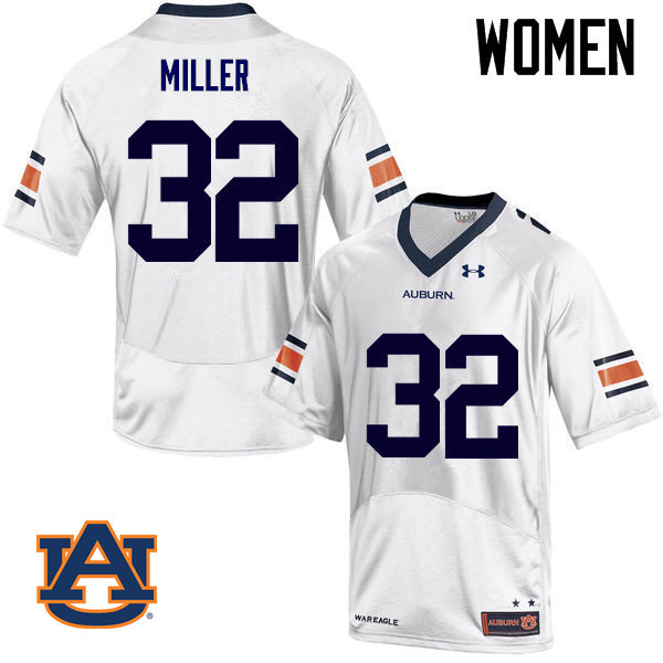 Women Auburn Tigers #32 Malik Miller College Football Jerseys Sale-White