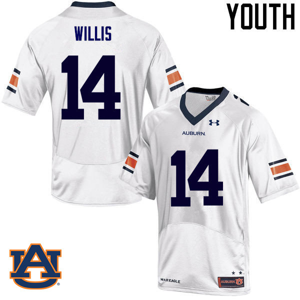 Youth Auburn Tigers #14 Malik Willis College Football Jerseys Sale-White