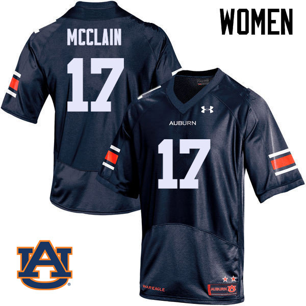 Women Auburn Tigers #17 Marquis McClain College Football Jerseys Sale-Navy