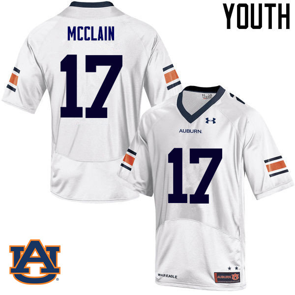 Youth Auburn Tigers #17 Marquis McClain College Football Jerseys Sale-White