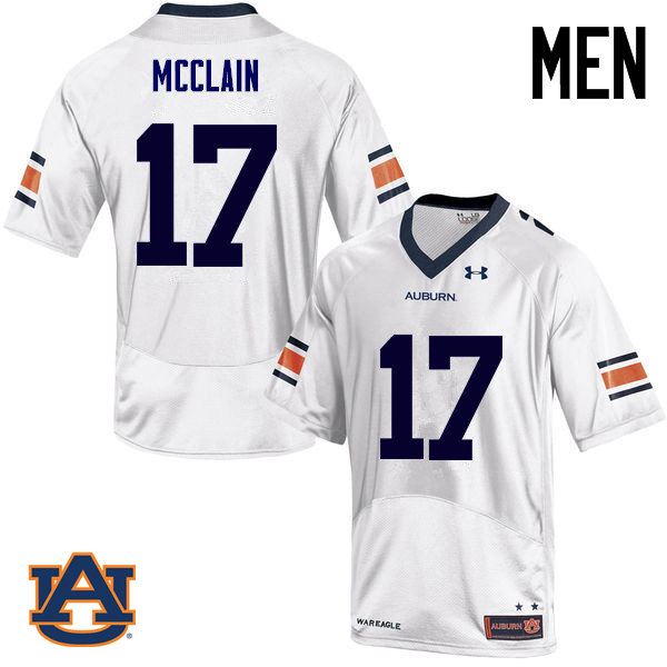 Men Auburn Tigers #17 Marquis McClain College Football Jerseys Sale-White