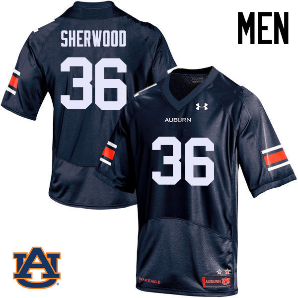 Men Auburn Tigers #36 Michael Sherwood College Football Jerseys Sale-Navy