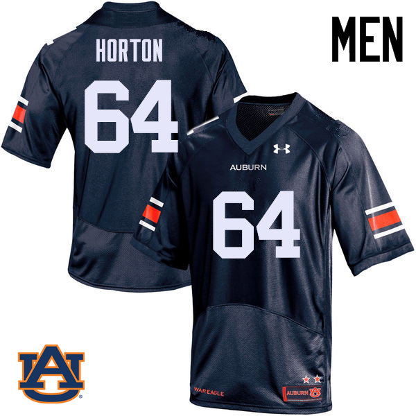 Men Auburn Tigers #64 Mike Horton College Football Jerseys Sale-Navy