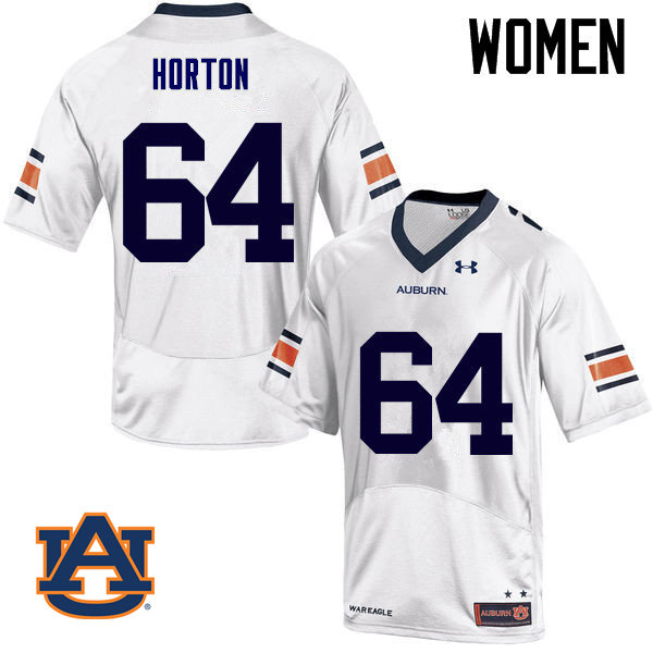 Women Auburn Tigers #64 Mike Horton College Football Jerseys Sale-White