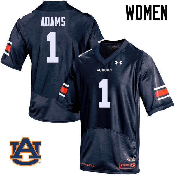 Women Auburn Tigers #1 Montravius Adams College Football Jerseys Sale-Navy
